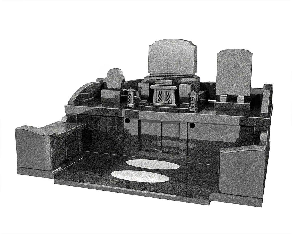 長崎県のお墓洋型墓石イメージ画像
