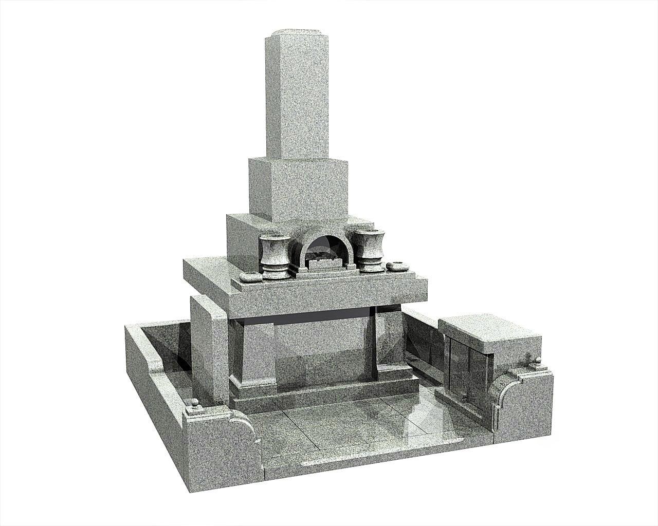 鹿児島県のお墓和型墓石イメージ画像