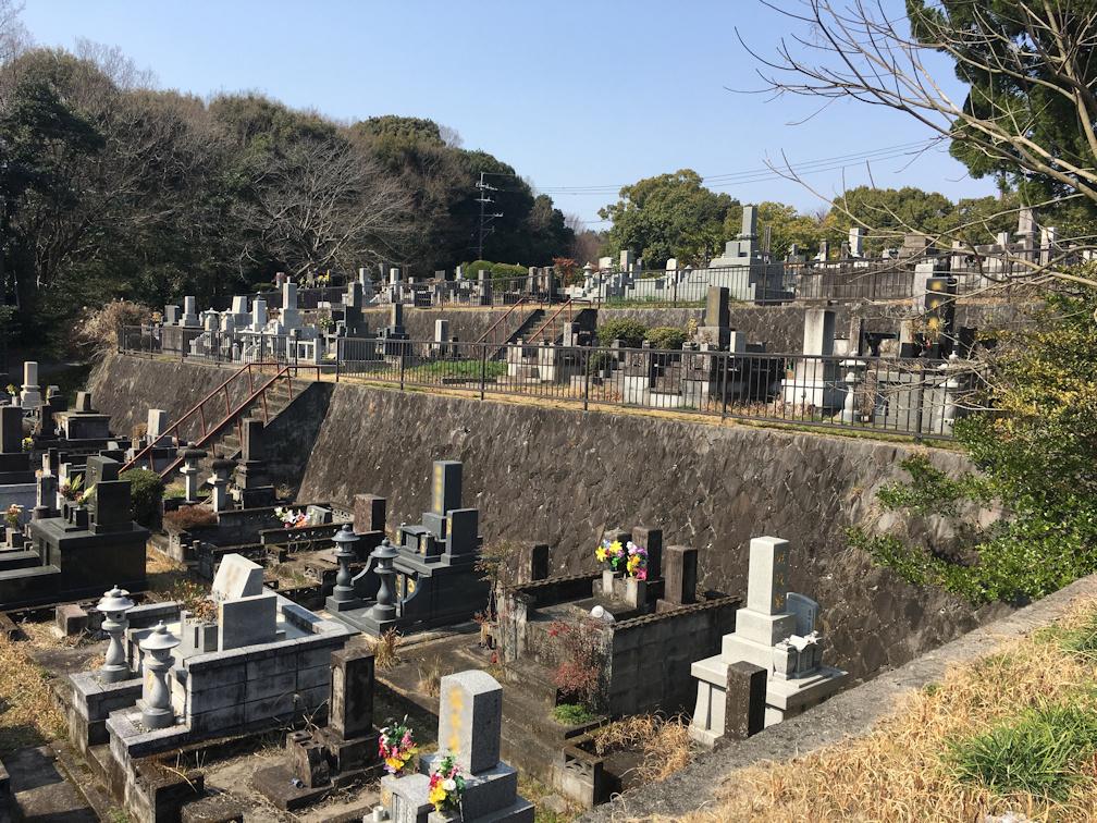 熊本市営浦山墓園の全体写真