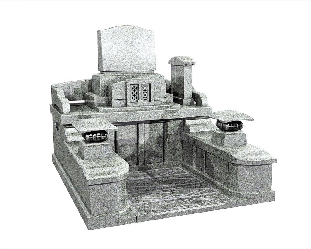 熊本県のお墓洋型墓石イメージ画像