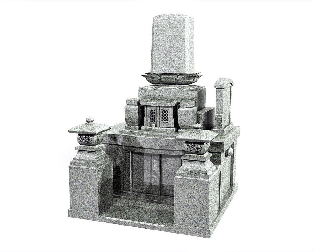 大分県のお墓和洋型墓石イメージ画像