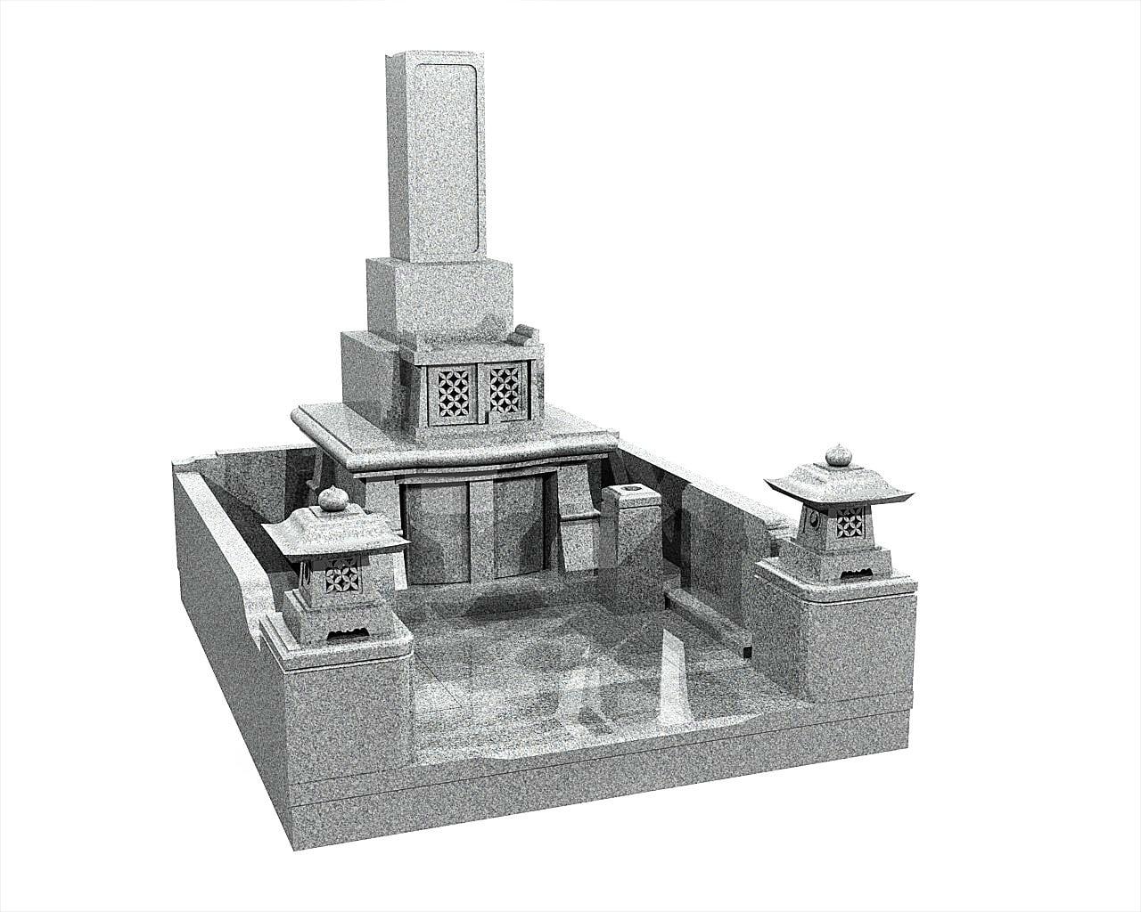 宮崎県のお墓和型墓石イメージ画像