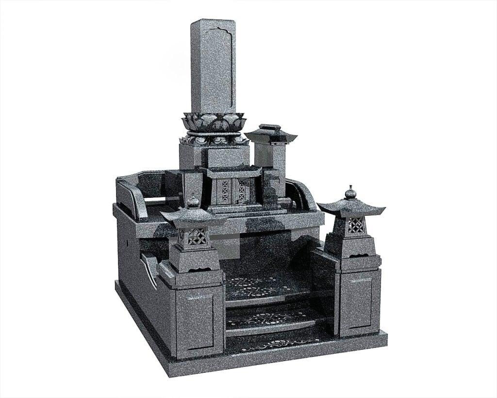 大分県のお墓和型墓石イメージ画像