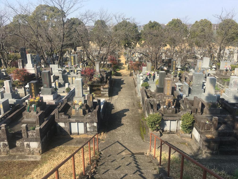 熊本市営清水墓園の全体写真