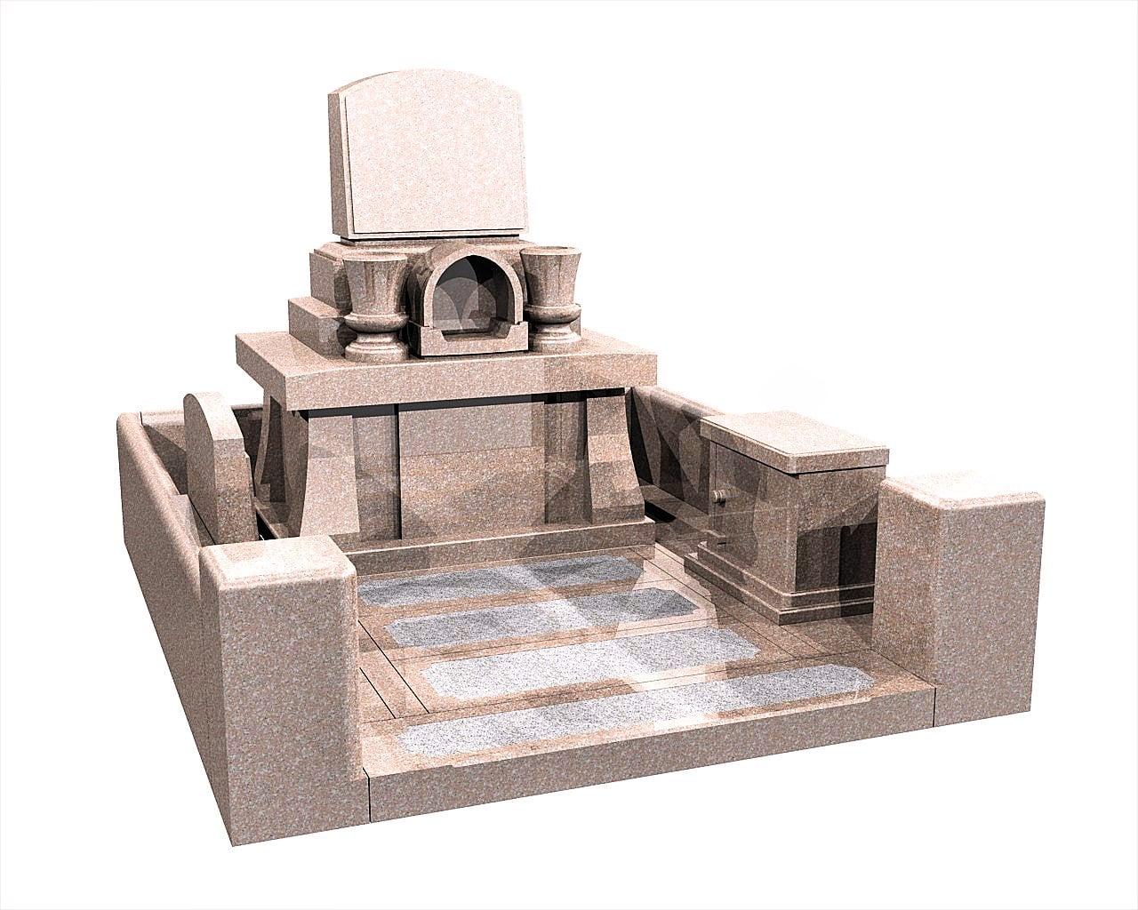 宮崎県のお墓洋型墓石イメージ画像